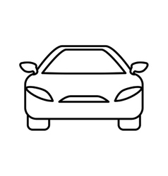 Car icon transportation machine design vector
