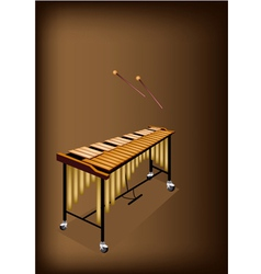 A Retro Vibraphone on Dark Brown Background vector image vector image