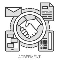 Agreement line infographic vector