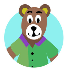 bear animal icon app vector image