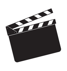 Blank cinema production black clapper board vector