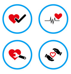 Cardiology rounded icons vector