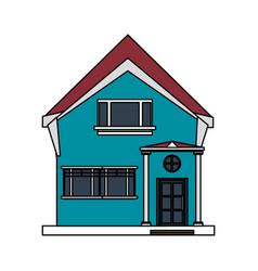 Colorful image cartoon facade irregular structure vector