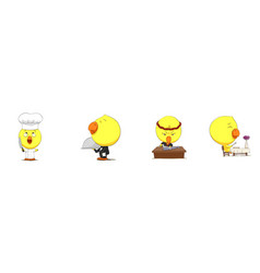 Cute cartoon chicks vector
