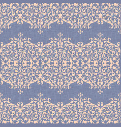 Damask ornament linen seamless background vector