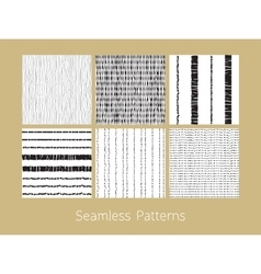 Dotted and dashed seamless patterns set vector