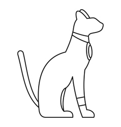 Egypt cat icon simple style vector