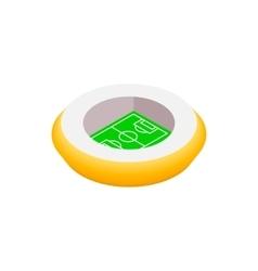 Football round stadium 3d icon vector