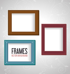 Frame card design vector image