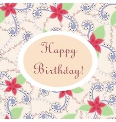Happy birthday vintage card vector