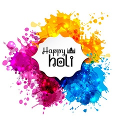 Holi spring festival of colors design element and vector image vector image