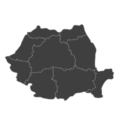 Map of romania with regions vector