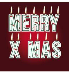 Merry xmas candles vector