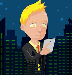 Old business man city night vector
