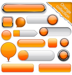 Orange high-detailed modern buttons vector