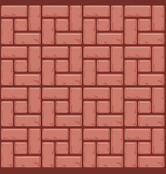 Red concrete paving slabs surface seamless vector