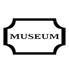 Sign museum icon simple style vector image