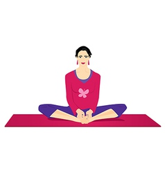 Yoga - butterfly pose vector image vector image