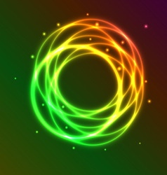 Abstract background with colorful plasma circle vector
