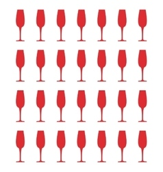 Champagne glass cup vector