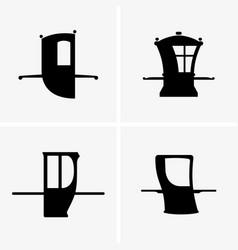 Sedan chairs vector