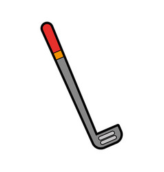 grey golf club cartoon vector image