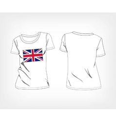 T-shirt with the flag of great britain vector