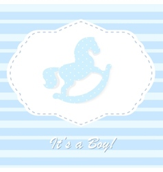 Baby born congratulation card vector