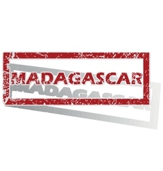 Madagascar outlined stamp vector
