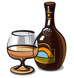 cream liqueur vector image
