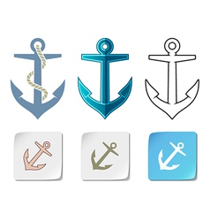 Anchor icons vector