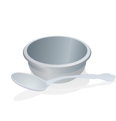 A cup and spoon vector