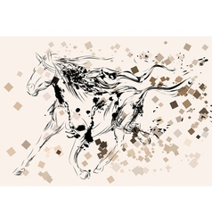 Horse abstract silhouette vector
