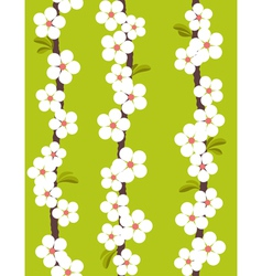 cherry blossom - seamless pattern vector image