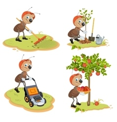 Set ant gardener vector