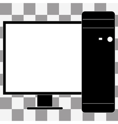 Desktop computer icon vector