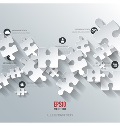 Abstract puzzle infographic cloud computing vector