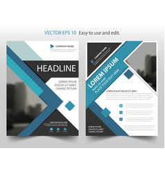 blue abstract square annual report brochure flyer vector image vector image