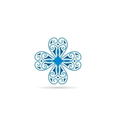 blue geometrical symbol or logo for vector image