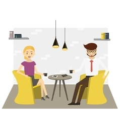 Business character modern office scene vector