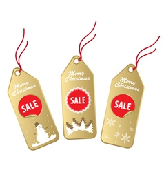 christmas sale labels vector image