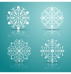 Decorative snowflakes set vector
