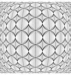 Design warped monochrome circle lines pattern vector
