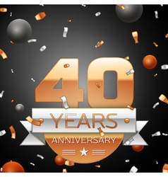 Forty years anniversary celebration background vector