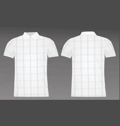 golf checked polo shirt vector image vector image