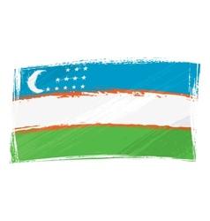 Grunge Uzbekistan flag vector image vector image