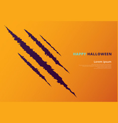 halloween event concept with scratching marks on vector image