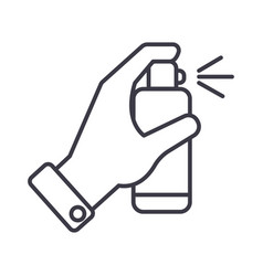 hand with spray line icon sign vector image