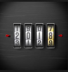 happy new year 2018 shining clock counter vector image