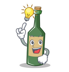 Have an idea wine bottle character cartoon vector